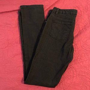Girls Levi's Jeans Skinny Fit in Black Size 16